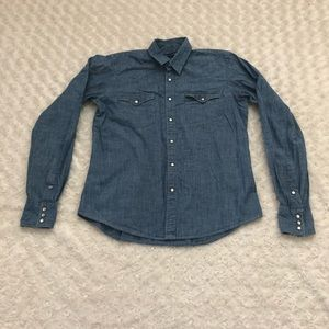 Ralph Lauren Slim Fit Long Sleeve Chambray Shirt